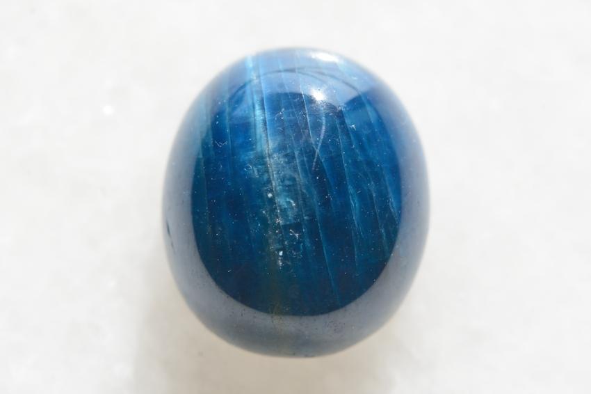 ブルーアパタイト キャッツアイ【3】天然石ルース・カボション(15×13mm)