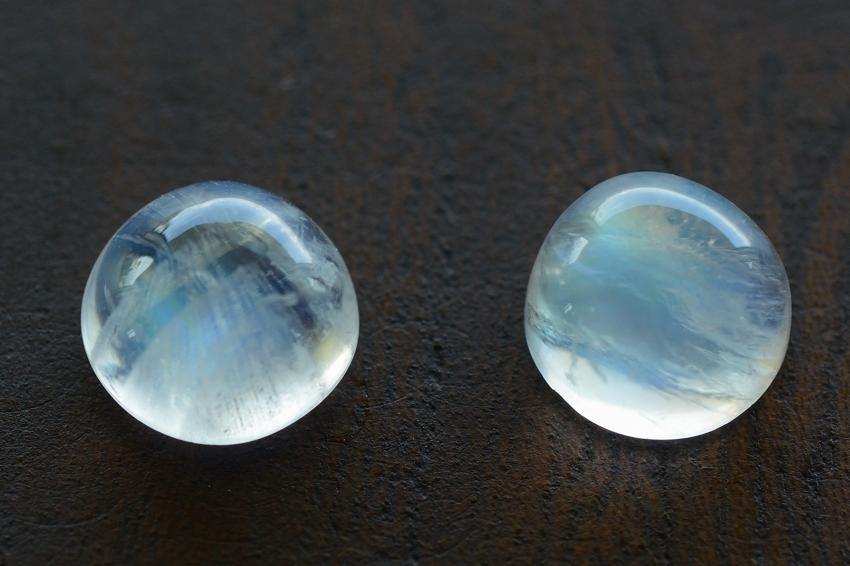 ムーンストーン【27】天然石ルース・カボション (7.5×7mm)