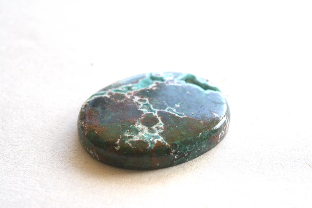 クリソコラ(アースストーン)【7】天然石ルース・カボション(29.5×21mm)