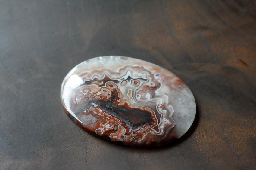 ラグナレースアゲート【4】天然石ルース・カボション(48.5×37mm)