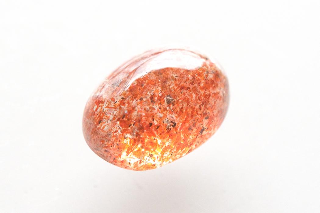 マイカサンストーン【1】天然石ルース・カボション(27×15mm)