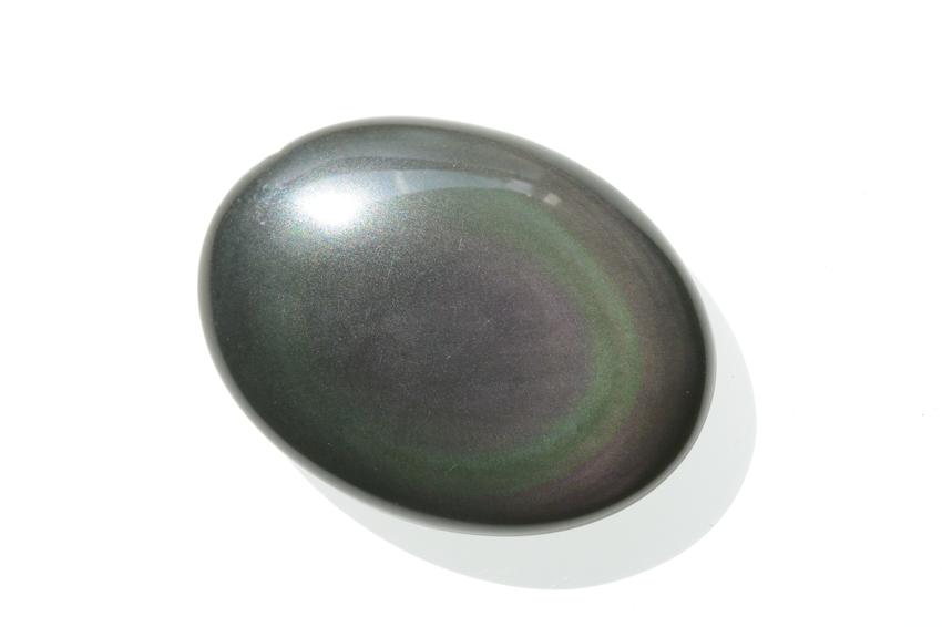 レインボーオブシディアン【5】天然石ルース・カボション(38×28mm)