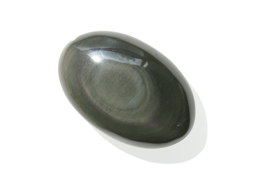レインボーオブシディアン【8】天然石ルース・カボション(38×24.5mm)