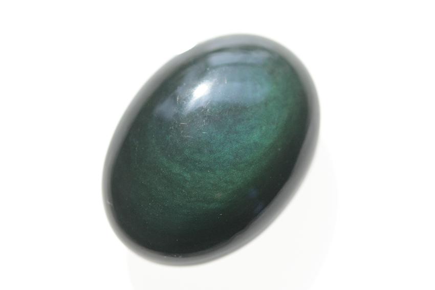 レインボーオブシディアン【14】天然石ルース・カボション(28.5×28.5mm)