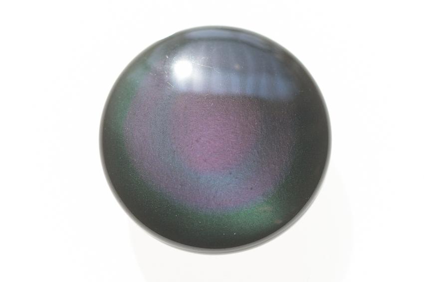 レインボーオブシディアン【16】天然石ルース・カボション(29.5×19mm)