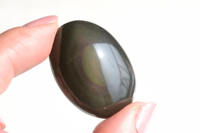 レインボーオブシディアン【19】天然石ルース・カボション