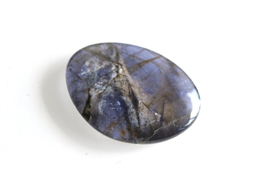 アイオライト(シルバーシーン)【2】天然石ルース・カボション(41×15.5mm)