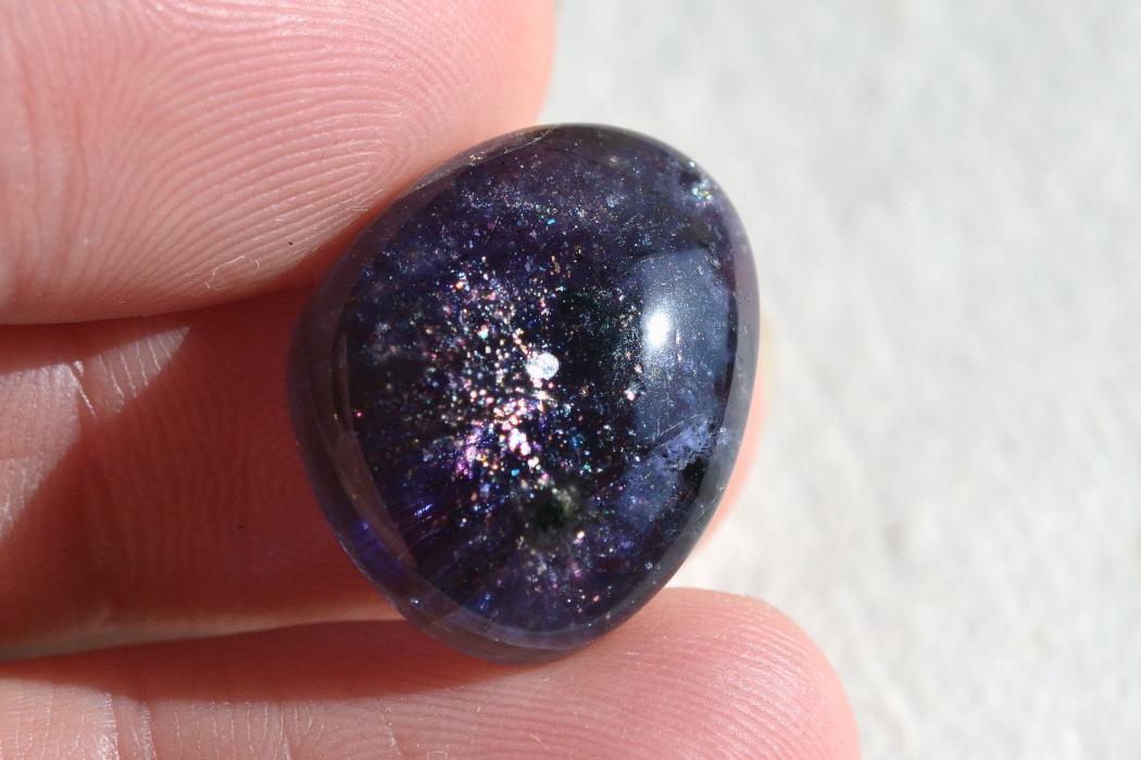 アイオライト(シルバーシーン)【5】天然石ルース・カボション(34×19.5mm)