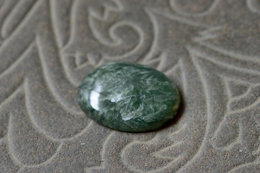 セラフィナイト【14】 天然石ルース・カボション(28×22mm)